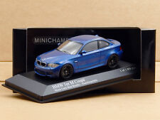 1/43 BMW 1M Coupe E82 2011 Monte Carlo Blue Minichamps Diecast Model 410 020026
