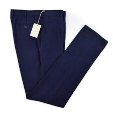 New BRIONI Montana Solid Blue Woven Cashmere Cotton Dress Pants 52 36 NWT $795!