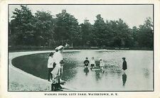 A View of the Children Playing in the Wading Pond, City Park, Watertown NY 1907