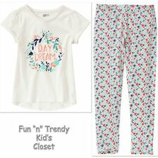NWT Crazy 8 Girls Size Large 10-12 Day Dream Tee Shirt Top & Leggings 2-PC SET