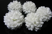 10 pcs Daisy Artificial flower Silk Spherical Heads Bulk Wedding Decor white 5CM