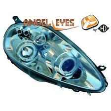 Pair headlights TUNING FIAT GRANDE PUNTO 05- 08 chrome-plated angel eyes