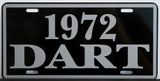 1972 72 DODGE DART METAL LICENSE PLATE 170 270 GT SWINGER 273 318 340