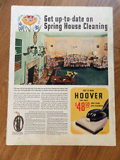 1941 Hoover Vacuum Cleaner Ad Spring House Cleaning