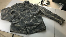 Levis Mens Camo Military Jacket Nice Distressed Look - Zipper and Buttons