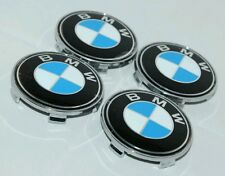 BMW 68MM WHEEL EMBLEMS x4 SUIT E46 CONVERTIBLE 330Ci SERIES CARS FOR OEM ALLOYS