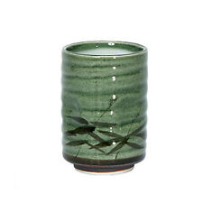 MIYA Japanese Green Sasa Tea Cup, 8 oz, Traditional Style No Handle Special Gift