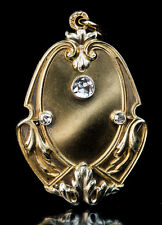 Russian Art Nouveau Antique Diamond Gold Locket
