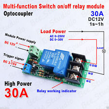 DC 12v High Power 30A Delay Time Counter Relay Control Switch on/off Module