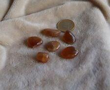 Fluorita marrón claro, piedra semipreciosa (lote de 6)