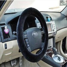 Car Winter General Plush Steering Wheel Cover Soft Grips Car Accessory Black