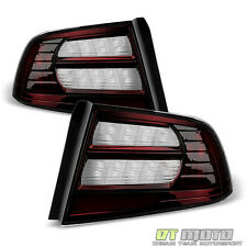 Blk Tinted 2004 2005 2006 2007 2008 Acura TL Type S Tail Lights Brake Lamps Pair
