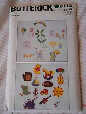 BUTTERICK TRANSFER APPLIQUE EMBROIDERY PACKAGE PATTERN 3712