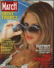 Couverture magazine,Coverage Paris Match 31/08/79 Brigitte Bardot