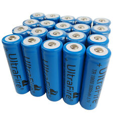 20 X 18650 5000mAh 3.7V Li-ion Rechargeable Battery for UltraFire Flashlight