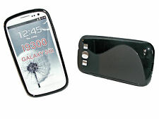 Rubber Silikon TPU Handy Cover Case Samsung i9300 Galaxy S3 + Displayschutzfolie