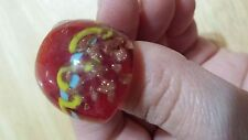 WOMANS MURANO GLASS SZ 6 SHINNY RED COLOR RING