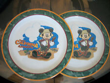 Lot of 2 Disney's California Adventure Plates - Micky Mouse Child's Plate