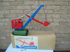 Russian Soviet USSR Toy Large Excavator Tin Metal NEW IN BOX NRFB VERY RARE 1993