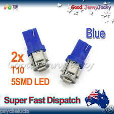 LED 2x T10 Blue 5SMD 5050 for Car Side Lights Parker Bulbs Lamps DC 12V
