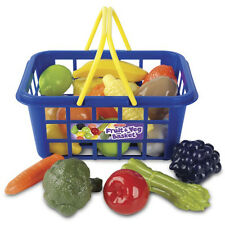 Casdon Plastic Fruit & Veg Shopping Basket And Handles Pretend Food Role Play