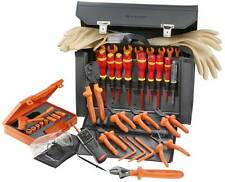 Facom 41pc Insulated Electricians Tool Set Kit in Leather Case 2187C.VSE