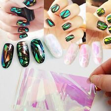 5 Sheets Nail Art Transfer Foils Sticker Decal Shiny Laser Holo Paper Decoration