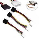 3X 4-Pin IDE Molex to 15-Pin Serial ATA SATA Hard Drive Power Adapter Cable