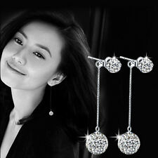 925 Sterling Silver Earrings South Korea Ball Drill Tassel Exaggerated Good