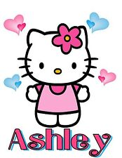 CUSTOM PERSONALIZED HELLO KITTY T SHIRT PARTY FAVOR BIRTHDAY PRESENT ADD NAME