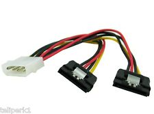"OKgear 4-pin Molex Male to Dual SATA Power Connectors, 6"" length"