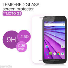 (Pack of 2) HD 2.5D Tempered Glass Screen Protector for Motorola Moto G 3rd Gen
