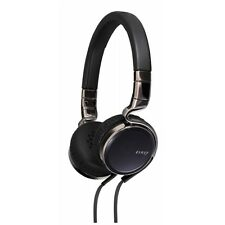 JVC HA-SR75S Esnsy On-Ear Headphones inc Mic Remote - Black Brand New