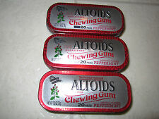 ALTOIDS Peppermint Gum, 3 EMPTY collector Tins, NO GUM