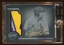 2014 TOPPS DYNASTY OSCAR TAVERAS RC AUTO #D 1/1 MASTERPIECE *CARDINALS* PATCH
