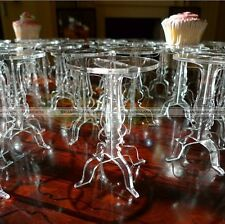 Set of 5 Crystal Acrylic Round Cupcake Stand Wedding Birthday Display Cake Small