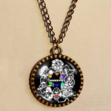 Undertale Necklace Art  Pendant Fashion Jewelry Game Gift Charm Cosplay Undyne