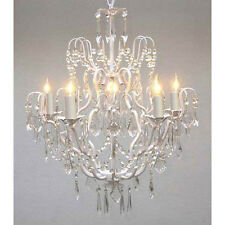"Wrought Iron Crystal Chandelier Chandeliers Lighting H27"" x W21"""