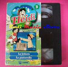 film VHS cartonata HEIDI 3 La lettera La pastorella FABBRI animazione(F90)no dvd
