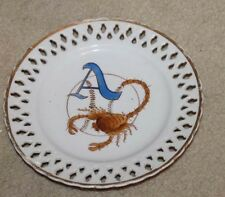 VINTAGE ALMENDARES SCORPION  CUBAN BASEBALL PLATE MASCOT PERFORATED 8""