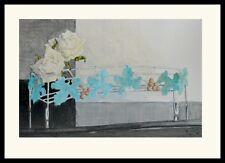 Ina van Toor Wein und Rosen Poster Bild Kunstdruck im Alu Rahmen schwarz 50x70cm