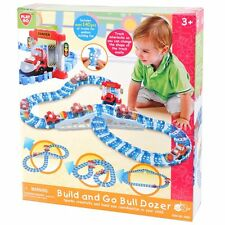PlayGo Build and Go Bulldozer Car Race Track Ages 3+ New Toy Boys Girls Play Fun