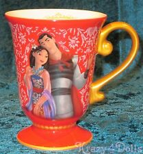 Disney Designer Fairytale Doll Collection Mulan and Li Shang Mug NEW