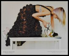 Mario Testino Gemma Ward póster son impresiones artísticas con marco de aluminio en negro 36x28cm