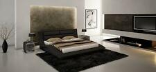 Wave King Size Platform Bed Contemporary Modern Style