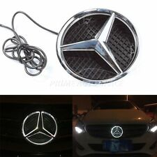 LED Light Front Grille Logo Emblem Illuminated Badge For Mercedes Benz 11-15