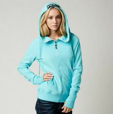 FOX RACING Ladies HERITAGE Zip Hoodie Size MEDIUM Womens Hoody Jacket Ice Blue
