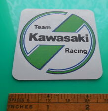 Kawasaki Team Racing Vinyl Decal Vintage Style Logo Sticker White/Green 2.5""