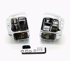 Chrome Switch Housing Cover For Harley Dyna Softail FXST Super Wide Glide V-Rod