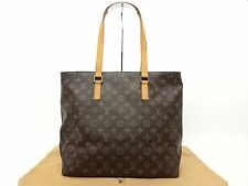 Louis Vuitton Authentic Monogram Cabas Mezzo Tote Shoulder Shopping Shoppers Bag